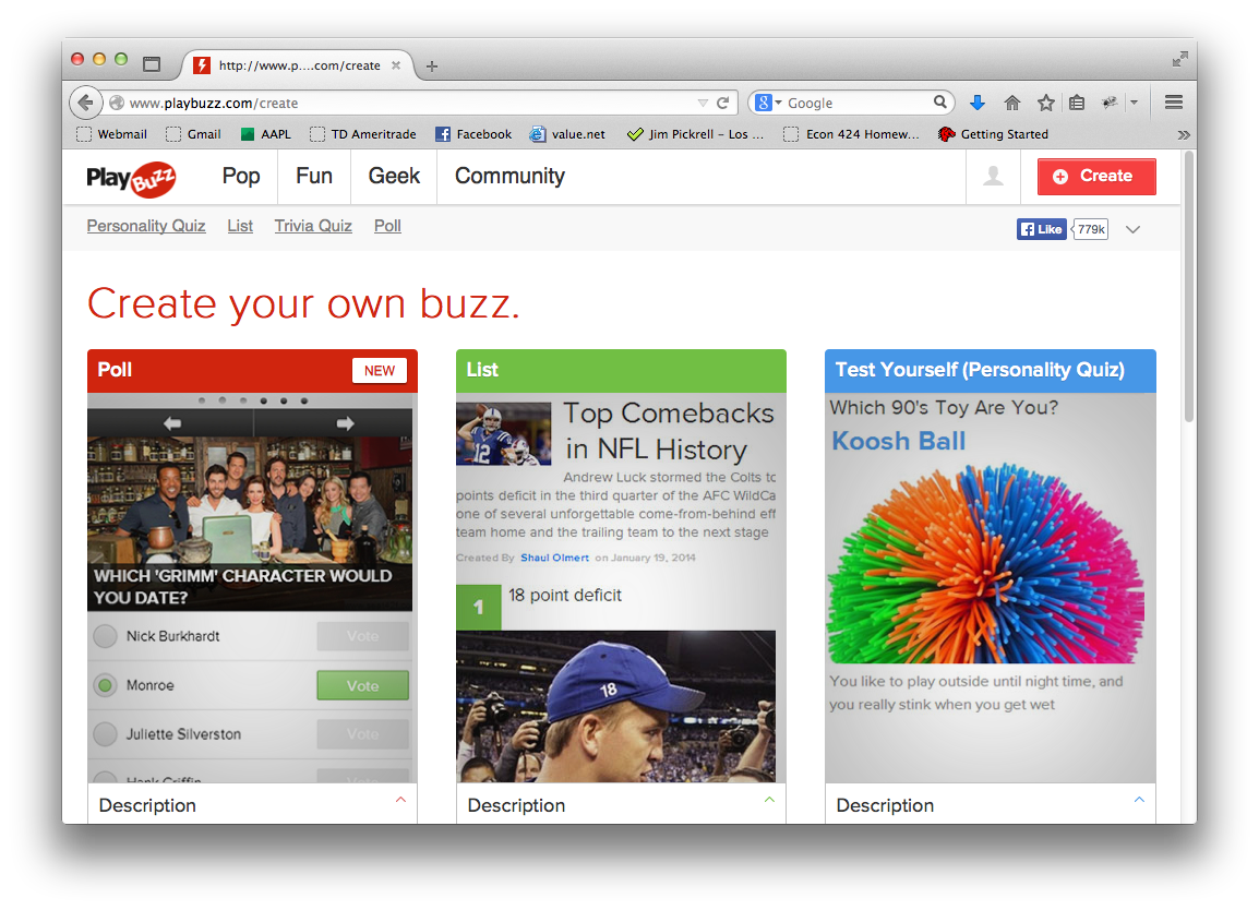 This Is The Create Page You Can Choose What Kind Of Quiz Want To Make Test Yourself